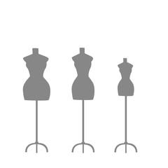 several light mannequins on a light background