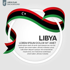 Libya flag background