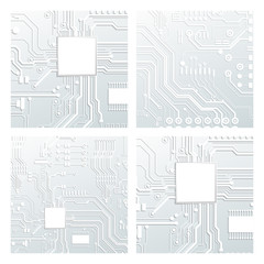 Vector circuit board illustration. Abstract technology.