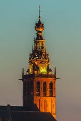 The ancient Dutch Stevenskerk church in Nijmegen