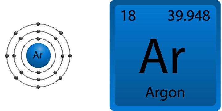 Argon Atom Shell