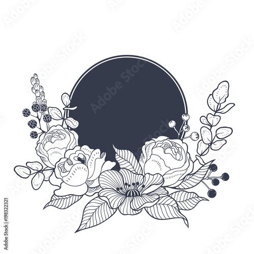 Vintage Floral Background For Wedding Invitation Card Or