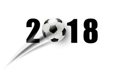 2018 Fußball mit Schweif