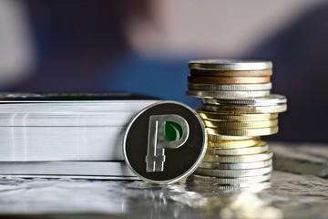 Silver peercoin coin