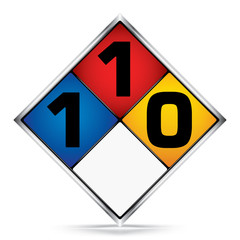 International  Diamond 1-1-0 Symbols,White,Blue,Red,Yellow Warning Dangerous icon on white background,Attracting attention Security First sign,Idea for,graphic,web design,Vector,illustration,EPS10