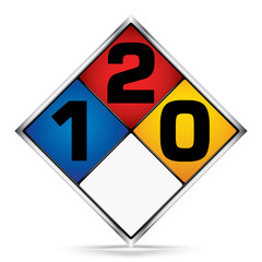International  Diamond 1-2-0 Symbols,White,Blue,Red,Yellow Warning Dangerous icon on white background,Attracting attention Security First sign,Idea for,graphic,web design,Vector,illustration,EPS10