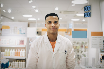 Portrait of young pharmacist