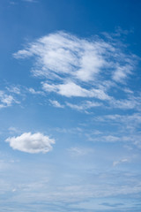 .Blue sky with white clouds
