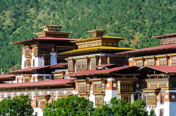 Detail of Punakha Dzong, Punakha, Thimphu, Bhutan