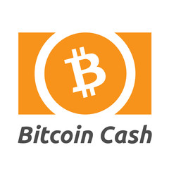 Bitcoin Cash Cryptocurrency Sign Isolated
