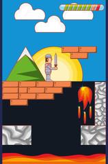 video game scene interface
