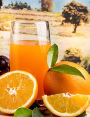 Orange Juice Fresh Indicates Citrus Fruit And Beverages