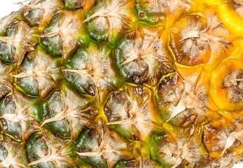 Pineapple fruit closeup background texture