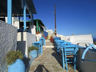Terrasse restaurant Grec Anafi Grèce