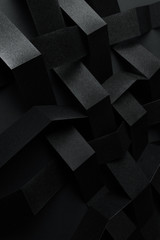 Composition of black stripes, abstract geometric background