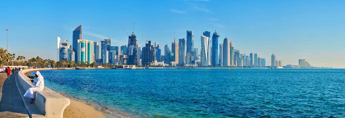 Al Dafna business district of Doha, Qatar