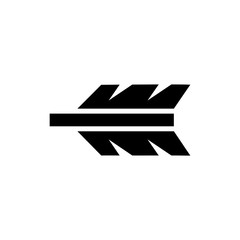 Feathering Arrow. Flat Vector Icon. Simple black symbol on white background
