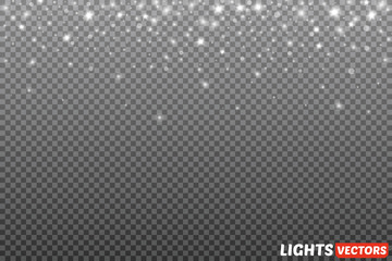 Light flare special effect with rays of light and magic sparkles.  Wall mural