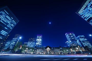 東京のビルと夜景