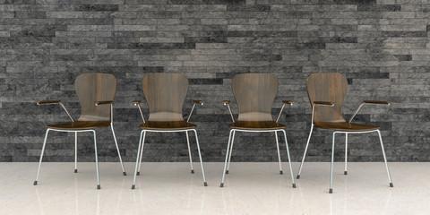 3d render - business lounge