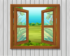 window to nature scene