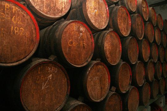 Barrels of rum, Havana, Cuba