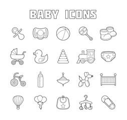 Baby Icons Set.  Illustration