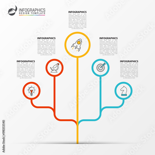 Infographic Design Template Business Concept With Tree Stock Image