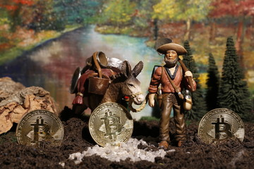 Bitcoin Goldgräber - der Goldrausch bei den digitalen Währungen scheint erst jetzt richtig entfacht.
