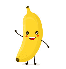 Funny happy cute happy smiling banana