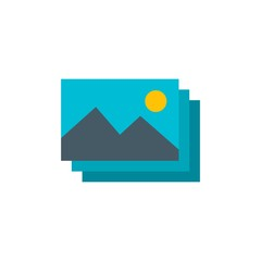 images flat vector icon. Modern simple isolated sign. Pixel perfect vector  illustration for logo, website, mobile app and other designs