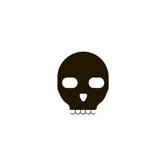skull icon. sign design