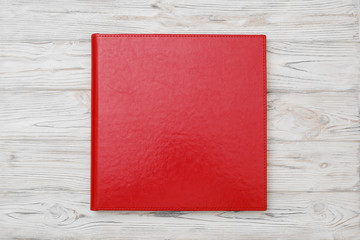 Photo book with embossing.