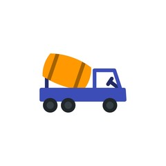 cement mixer flat vector icon. Modern simple isolated sign. Pixel perfect vector  illustration for logo, website, mobile app and other designs