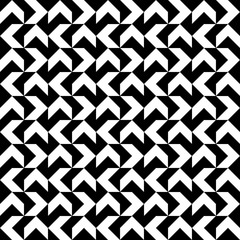 black and white zigzag stripes pattern. Geometric repeating pattern of zigzag. Vector background design
