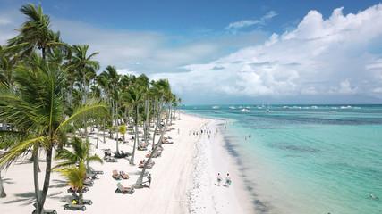 Aerial panoramic view of Bavaro Beach, Punta Cana, Dominican Republic