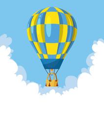 Flat hot air balloon