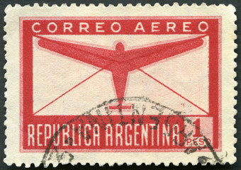 ARGENTINA - 1932: shows Plane and Letter