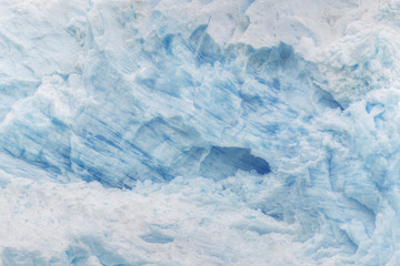 Texture of the blue ice. Perito Moreno Glacier, Patagonia, Argentina