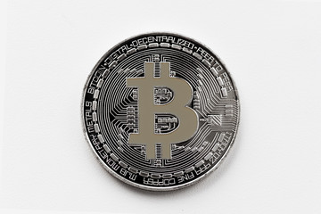 virtual money cryptocurrency bitcoin closeup