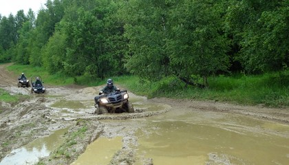 Quad adventure in dirty mud