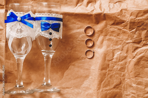 Handmade Decor Decorated Wine Glasses For The Wedding Glasses For
