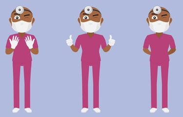 Scrub Suit Surgeon Set (Dark skin) v1c