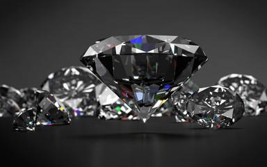 Diamonds on dark grey background.