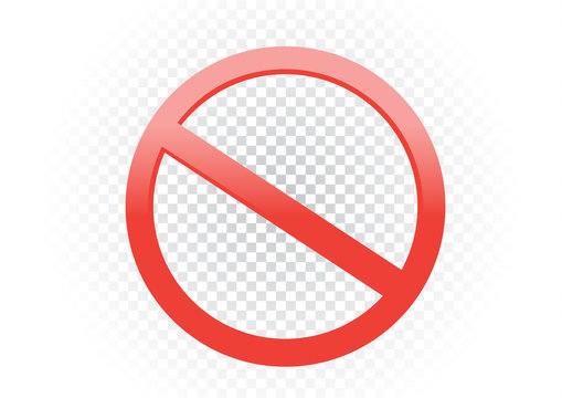 red forbid ban sign symbol transparent