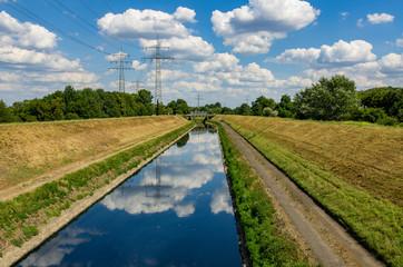 Der Fluss Emscher in Essen, Deutschland