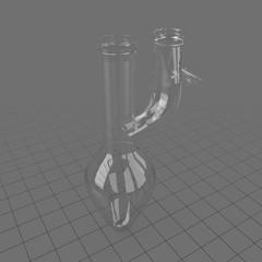Glass laboratory Claisen flask