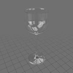 Hock wine glass