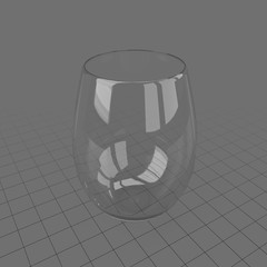 Tumbler wine glass