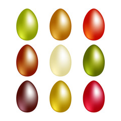 Easter eggs with